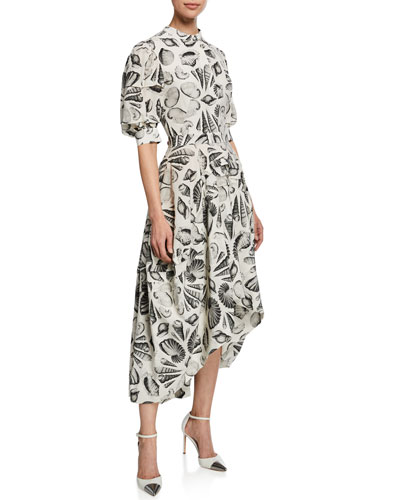 Cabinet Of Shells Short-Sleeve Dress