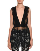 Alexander McQueen Lace-Trim Cabinet Shell Print Blazer and