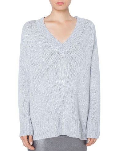 0207a5942 Quick Look. Akris punto · Oversize Wool Cashmere Sweater ...