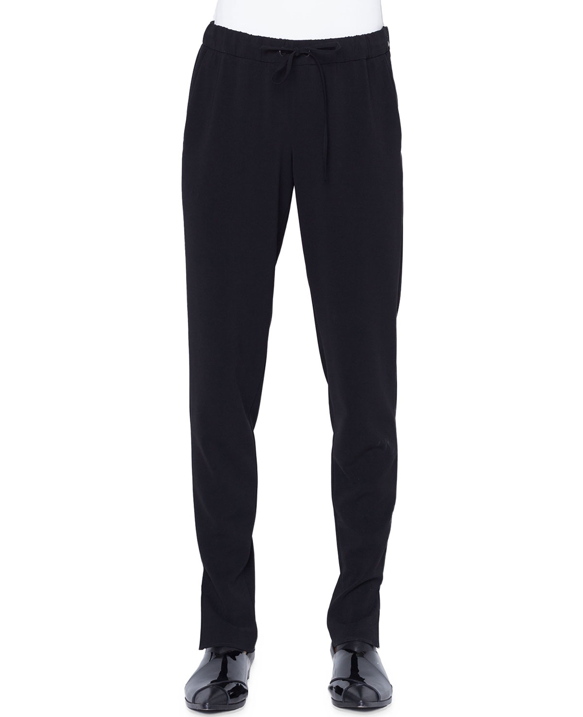 Mike Tapered Jersey Pants, Black