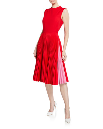 334ee885e6e Quick Look. CALVIN KLEIN 205W39NYC · Pleated-Skirt Crewneck Sleeveless Fit -and-Flare Dress