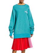 Calvin Klein Oversized Crewneck Pullover Sweater