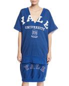 CALVIN KLEIN 205W39NYC Yale University V-Neck Short-Sleeve Cotton
