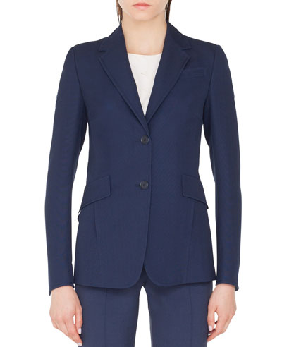 Punto Stretch Blazer Jacket with Soft Back