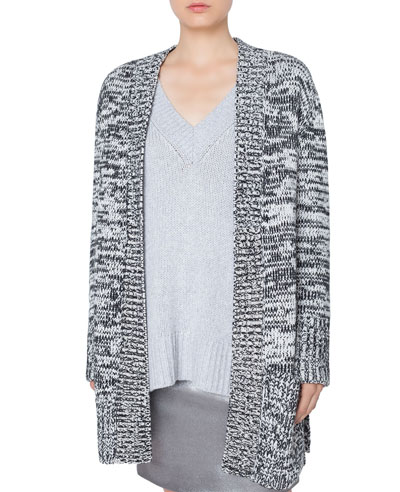 Quick Look. Akris punto · Long Chunky Melange Knit Cardigan. Available in  Black bc61aade6