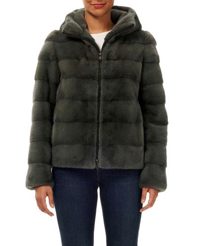 Dyed Mink Jacket  7ac45f364