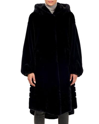 33ad06375e3 Quick Look. Gorski · Short-Nap Mink Coat w/ Hood and Sheared Sleeves