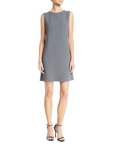 Sleeveless Contrast Bra-Back Cady Shift Dress