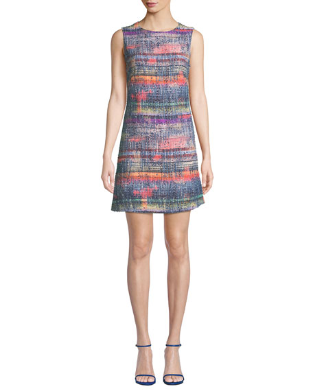 Emporio Armani Sleeveless Hyper-Tweed Shift Dress