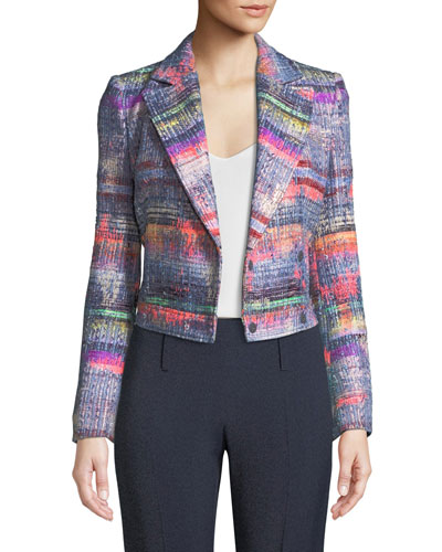 Multi Hyper-Tweed Short Blazer