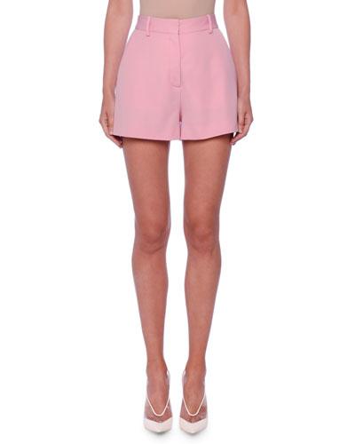 Classic Flat-Front Wool Shorts