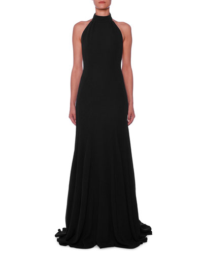 c9e22fcd45 Quick Look. Stella McCartney · Halter Open-Back A-Line Stretch-Cady Evening  Gown