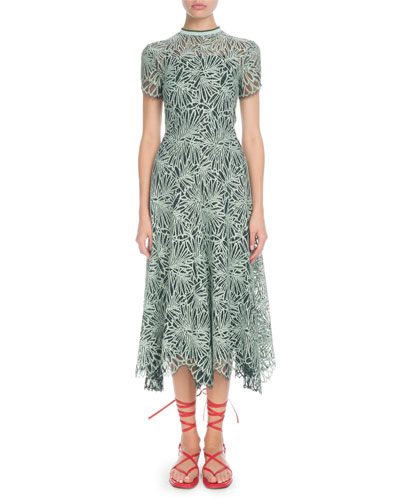 f816062d5312 Printed Back Zip Dress