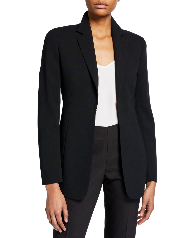Odette Long Wool Blazer Jacket