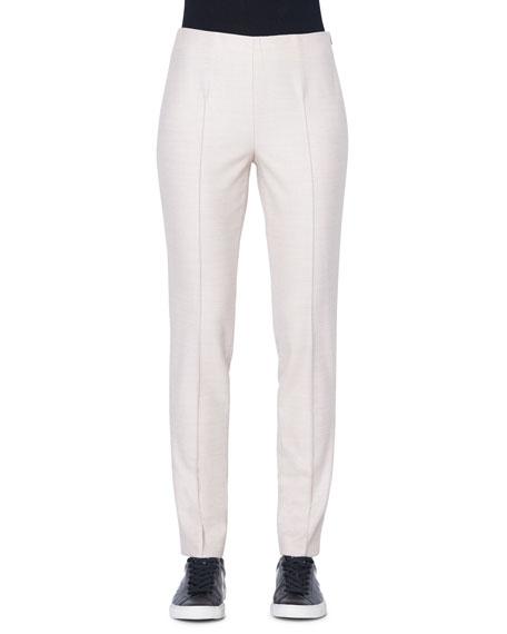 Akris Melissa Wool-Flannel Straight-Leg Pants