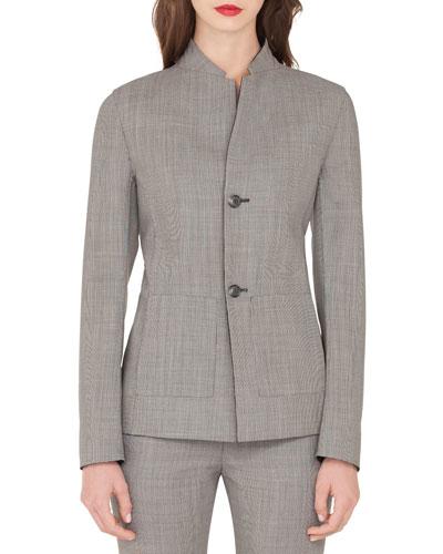 Adissa Fil-A-Fil Reversible Wool Jacket