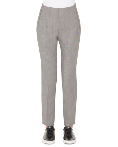 Conny Fil-a-Fil Wool Slim Ankle Pants