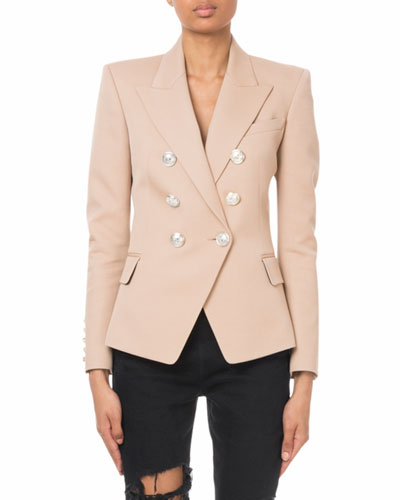Double-Breasted Button Classic Blazer