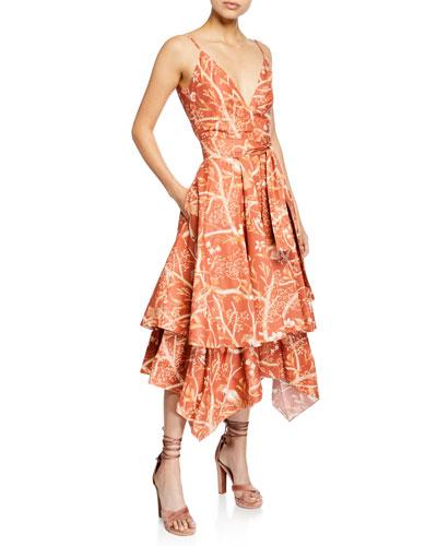Deep V Neckline Midi Dress  78f79f3ac