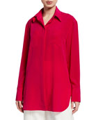 Givenchy Long-Sleeve Classic Blouse