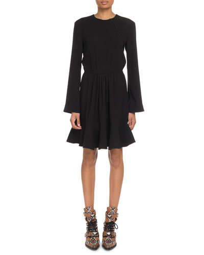 Black Tie Waist Dress Neiman Marcus