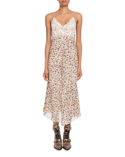 5728c63c7b0 Floral Print Bodice Dress