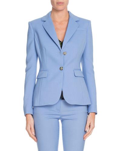 Fenice Two-Button Wool-Stretch Blazer