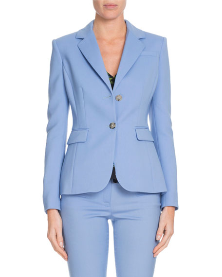 Altuzarra Fenice Two-Button Wool-Stretch Blazer