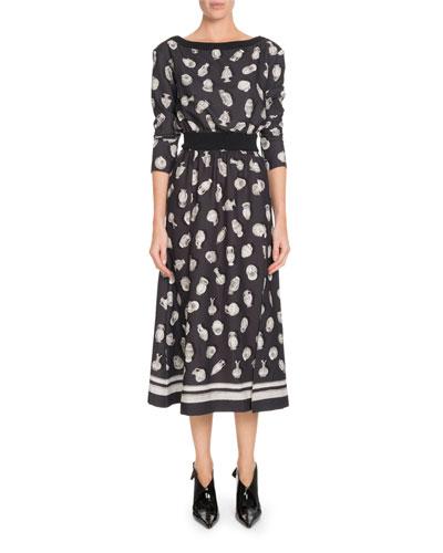e7fcd6d1369d Black Boat Neckline Dress | Neiman Marcus