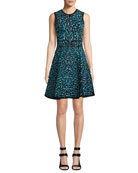 Michael Kors Collection Sleeveless Zip-Front Fit-and-Flare