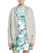 Michael Kors Collection Zip-Front Cashmere Hoodie with