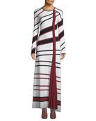 Gabriela Hearst Ruben Long-Sleeve Asymmetric-Stripe Wool-Blend