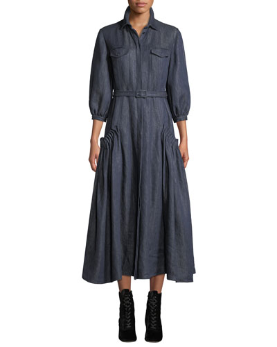 91044ad8 Belted Collared Dress | Neiman Marcus