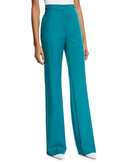 Gabriela Hearst Vesta Wool Wide-Leg Pants