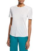 Gabriela Hearst Bravo Crewneck Short-Sleeve Cashmere-Silk Knit