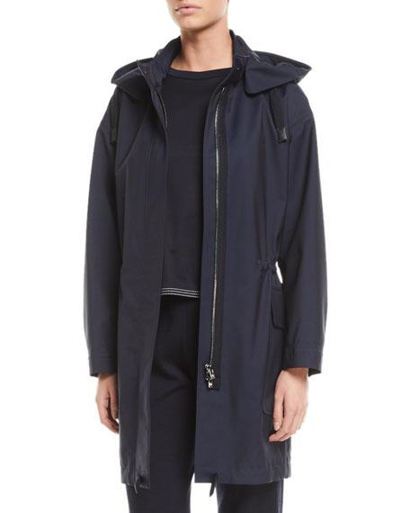 Loro Piana Techno-Wool Hooded Anorak Coat