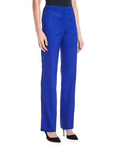 Taminola High-Rise Straight-Leg Classic Stretch-Wool Pants