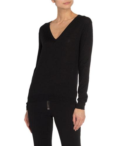 8574ebef8129e6 Pullover Cashmere Silk Top