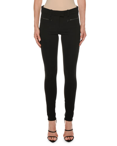 783a3121b6703 Quick Look. TOM FORD · Leather-Trim Zip-Pocket Stretch Leggings