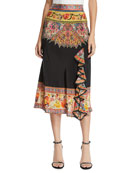 Etro Engineer Radiant Bloom Midi Skirt
