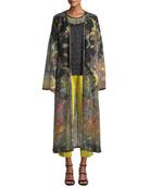 Etro Long Paisley Print Chiffon Coat and Matching