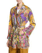 Etro Paisley-Jacquard Open-Front Blazer and Matching Items &
