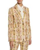 Etro Paisley Jacquard Blazer Jacket and Matching Items