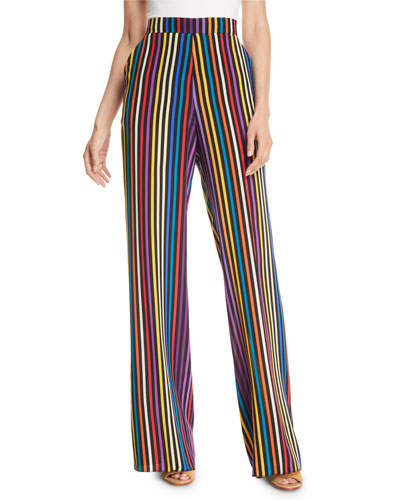 Largo Mid-Rise Striped Pull-On Pants