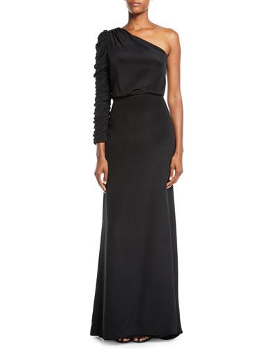 8889ea9e775 Crepe Evening Gown | Neiman Marcus