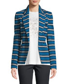 Escada Striped Double-Breasted Jacket and Matching Items &