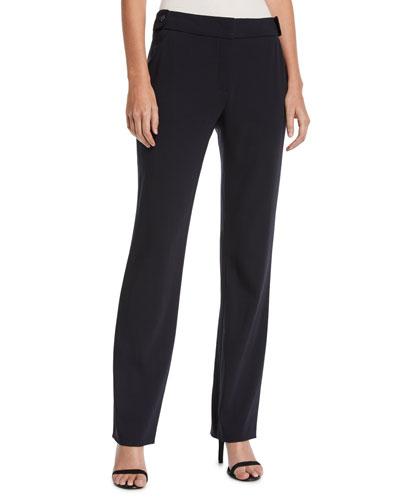 Tanar Straight-Leg Stretch-Wool Pants