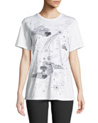 Escada Sport Clouds & Stars Crewneck Short-Sleeve Cotton