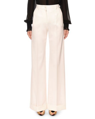 Cuffed Wide Leg Pants Neiman Marcus