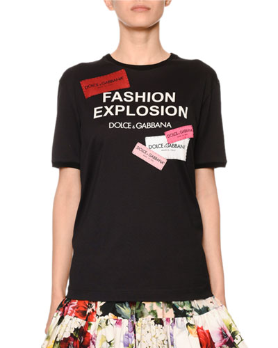 Fashion Explosion Patchwork Logo Tee